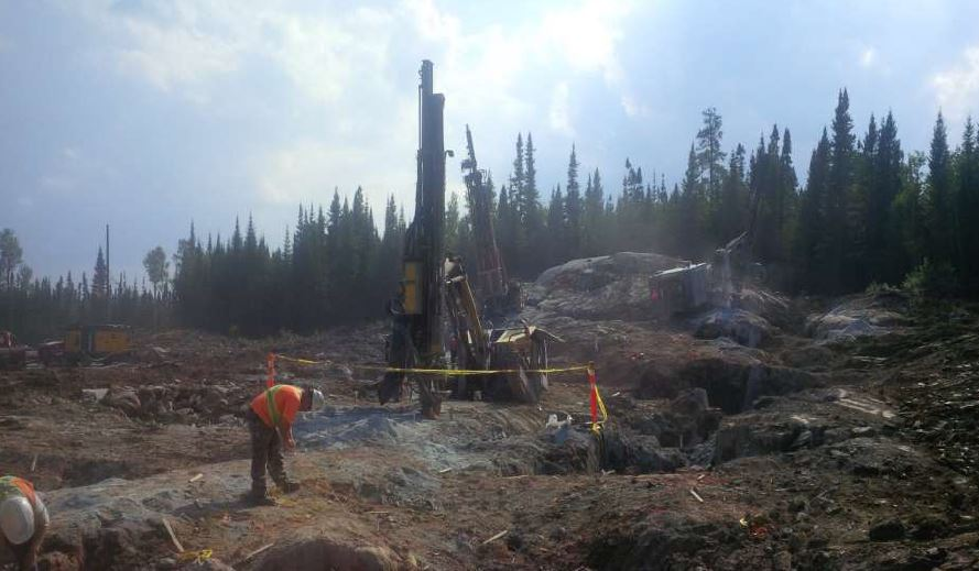 Portal blasting at Integra Gold's Triangle Zone at the Lamaque South gold project in Val d'Or, Quebec. Source: Integra Gold Corp.