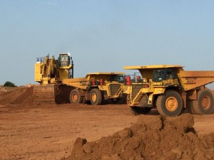 Mining operations at True Gold's Goulagou II (GGII) deposit at the Karma Gold Mine in Burkina Faso, West Africa. Source: True Gold Mining Inc.