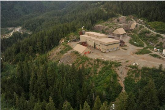 The old Premier mill near Stewart, northwest British Columbia. Source: Ascot Resources Ltd.