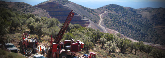 Drilling operations at McEwen Mining's Gold Bar Project in central Nevada. Source: McEwen Mining Inc.