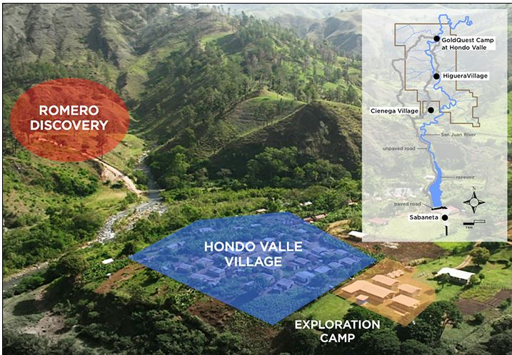 Photo-illustration of GoldQuest's Romero gold/copper project in the Dominican Republic. Source: GoldQuest Mining Corp.