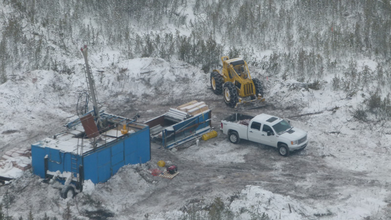 Drilling operations at NexGen Energy's Rook I uranium prospect in the Athabasca Basin, northern Saskatchewan. Source: NexGen Energy Ltd.
