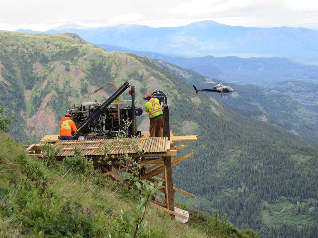 Getting ready to drill the Spectrum property in northwest British Columbia. Source: Skeena Resources Ltd.