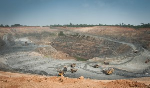 The open pit mining operations of the Asanko gold mine, Ghana, West Africa. Source: Asanko Gold Inc.