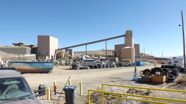 The 100%-owned Midas Mine and milling facility, Elko County, Nevada. The gold-silver mine has been in production since 1998. Source: Klondex Mines Ltd.