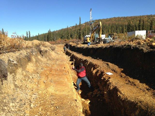 Exploration activities at Kaminak Gold's Coffee Gold Project in the Yukon Territory.  Source: Kaminak Gold Corp.