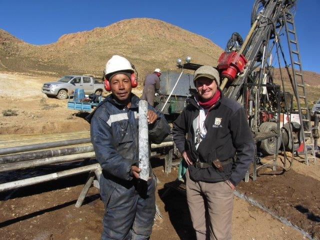 Diamond drilling at the Golden Arrow Chinchillas silver-lead-zinc advanced exploration project in Jujuy Province, Argentina. Photo courtesy Golden Arrow Resources Corp.