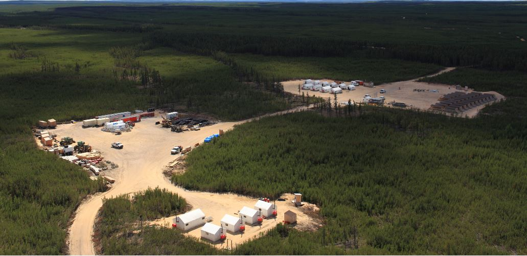 The Fission Uranium exploration camp for the PLS uranium property in the Athabasca Basin of northern Saskatchewan. Source: Fission Uranium Corp.