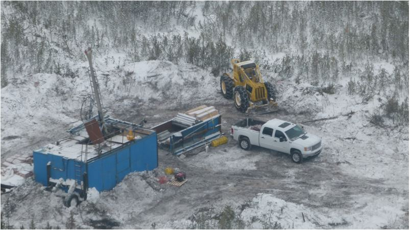 Diamond drilling at the Rook I property in the Athabasca Basin of northern Saskatchewan. Source: NexGen Energy Ltd.