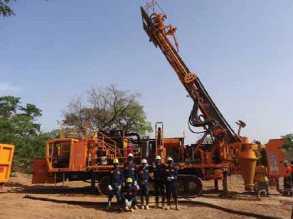 The drilling crew at the Kalana Main gold project in southwestern Mali, West Africa. Photo courtesy Avnel Gold Mining Ltd.