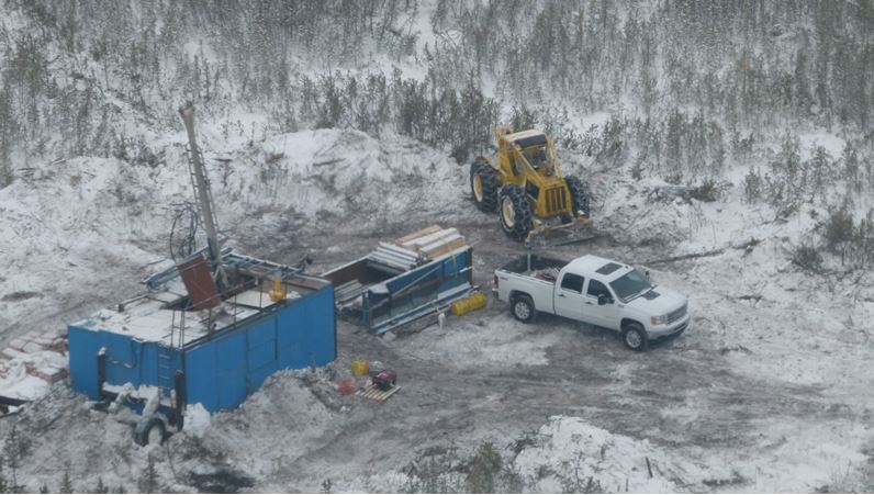 Winter diamond drilling at the Rook I property, Athabasca Basin, northern Saskatchewan. Source: NexGen Energy Ltd