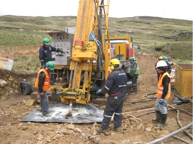 Diamond drilling at the Ayawilca-Colquipucro Project in Peru. Source: Tinka Resources Limited.