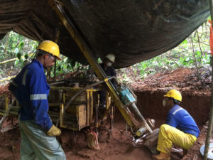Drilling at the Alacran copper-gold discovery within the Sam Matias Project, Colombia. Source: Cordoba Minerals Corp.