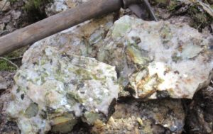 Lithium mineralization at the Wisa Lake Project, northwest Ontario. Source: Alset Energy Corp.