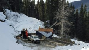 Diamond drilling on Cow Mountain at the Barkerville Gold Mines Cariboo Gold Project in east-central British Columbia. Photo courtesy Barkerville Gold Mines Ltd.