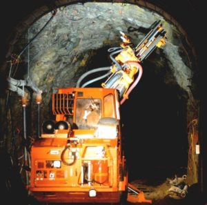 Rock bolting operations at the Montanore silver-copper project in northwestern Montana. Source: Mines Management, Inc.