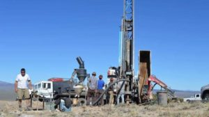Drilling operations at Nevada Zinc's Lone Mountain zinc project near Eureka, Nevada. Source Nevada Zinc Corp.
