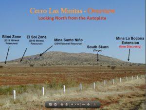 Southern Silver Exploration's Cerro Las Minitas Project in Durango State, Mexico. Source: Southern Silver Exploration Corp.
