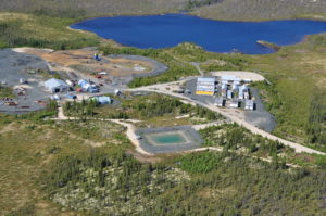 Eastmain Mine Camp Aerial View