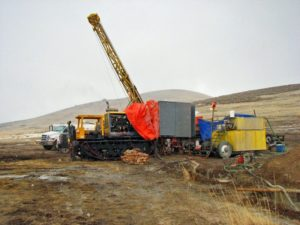 Drilling operations at Gold Standard's Railroad-Pinion Project in the Carlin Trend, Nevada. Source Gold Standard Ventures Corp.