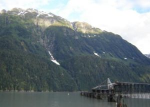 Deep sea loading facilities across from Mt. Rainey on the Portland Canal at Stewart, British Columbia. Source: Mt. Rainey Silver Inc.