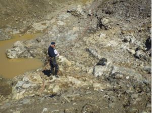 Prospecting on the Alder Zone at the Wilding Lake gold project in central Newfoundland. Source: Altius Minerals Corp.