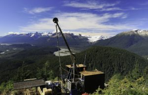 Diamond drilling at the Snip gold project in the Golden Triangle region of northwest British Columbia. Photo courtesy Skeena Resources Limited.