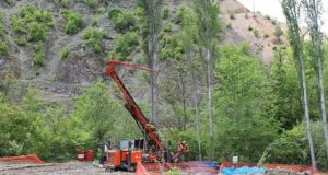 Drilling at the Hot Maden gold-copper project in northeast Turkey. Source: Mariana Resources Ltd.