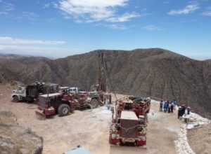 Drilling operations at AQM Copper's Zafranal Project in southern Peru. Source: AQM Copper Inc.