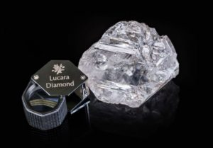 Just one example of the many giant diamonds recovered at the Karowe Mine in Botswana. Source: Lucara Diamond Corp.