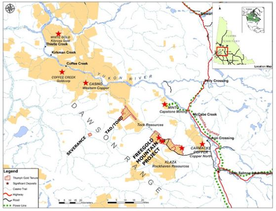 Resource world magazine triumph active on yukon drilling results location map of triumph golds freegold mountain project yukon territory source triumph gold corp gumiabroncs Image collections
